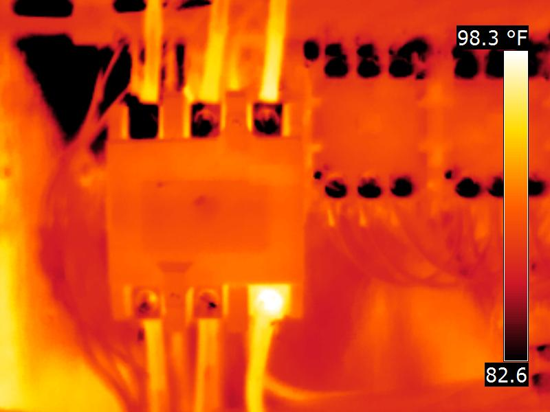 Thermal image of the above picture
